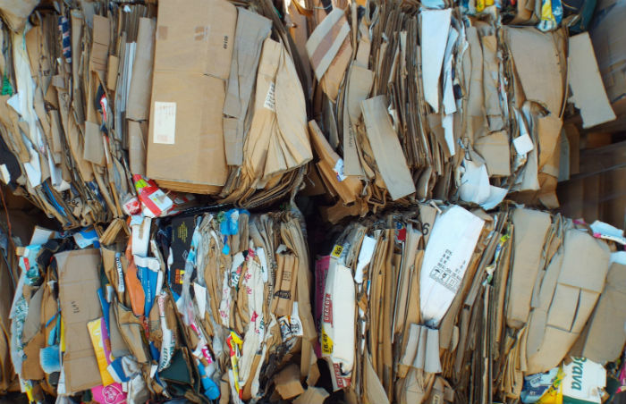 cardboard and paper recycling